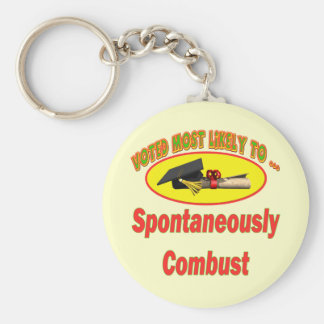 Spontaneously Combust Keychain