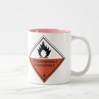 spontaneously combustible-1 Two-Tone coffee mug