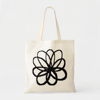 Spontanious Flower - Black Tote Bag