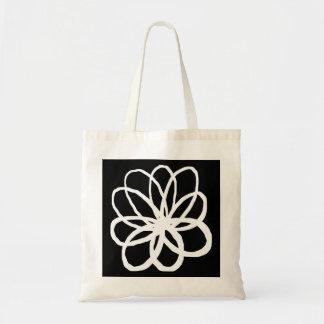 Spontanious Flower - Transparent on Black Tote Bag
