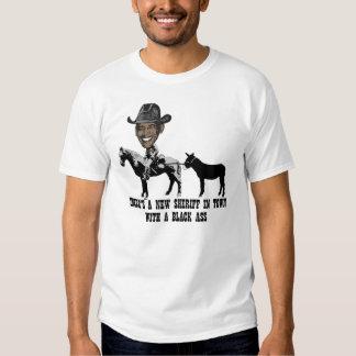 Spoof anti Obama sheriff T Shirt