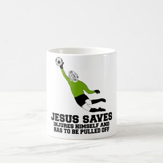 Spoof atheist Jesus saves Coffee Mug