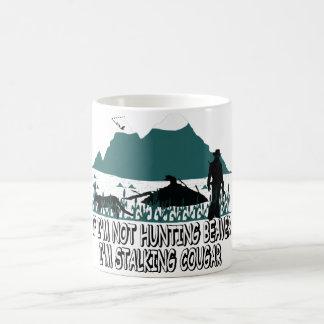 Spoof cougar hunter coffee mug