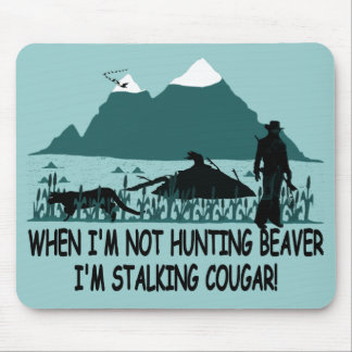 Spoof cougar hunter mouse pad