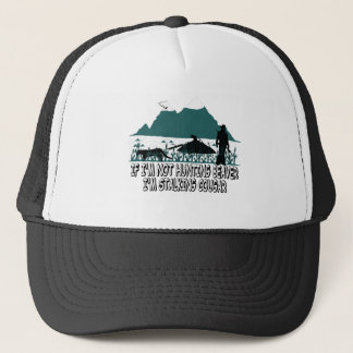 Spoof cougar hunter trucker hat