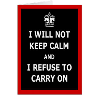 Spoof keep calm and carry on card
