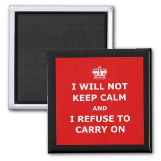 Spoof keep calm refrigerator magnet