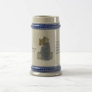 Spoof Latin stein for organists 18 Oz Beer Stein