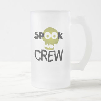 Spook Crew Frosted Glass Beer Mug