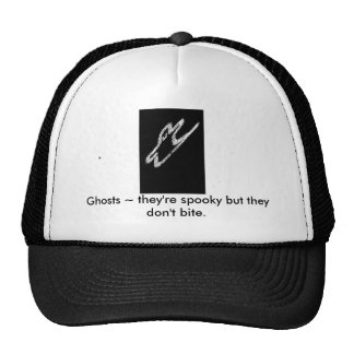 SPOOK LOGO, Ghosts ~ they're spooky but they do... Trucker Hat