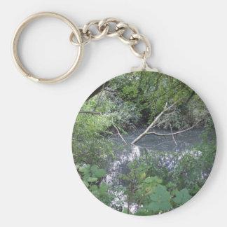 Spook pond basic round button keychain