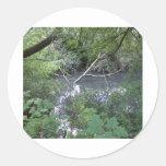 Spook pond round sticker