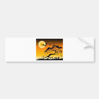Spook scene bumper stickers