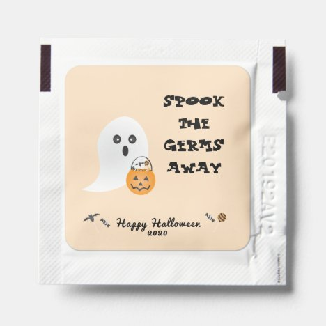 Spook The Germs Away Ghost Trick Or Treating Hand Sanitizer Packet