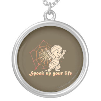 Spook Up Your Life Silver Plated Necklace