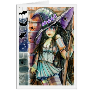 Spooked Witch  Greeting Card Greeting Card