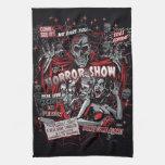 Spookshow de la demostración de los monstruos de toalla de cocina