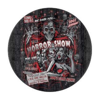 Spookshow de la demostración de los monstruos de tabla para cortar
