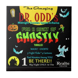 Spookshow del Dr. Odd's Azulejo Cuadrado Pequeño