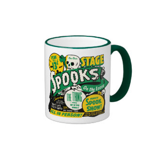 Spookshow Poster Art - Spooks On The Loose Ringer Coffee Mug
