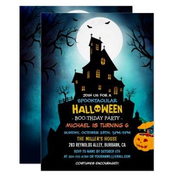Halloween Themed SPOOKTACULAR Costume Kids Halloween Birthday Party Card