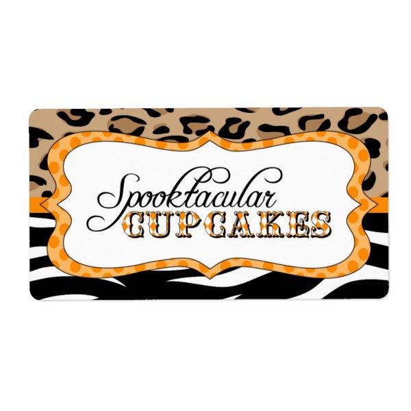 Spooktacular Cupcakes Food Label