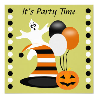 Spooktacular Ghost Halloween Party Invitations