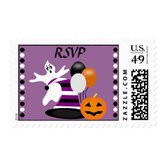 Spooktacular Ghost Halloween Party Postage