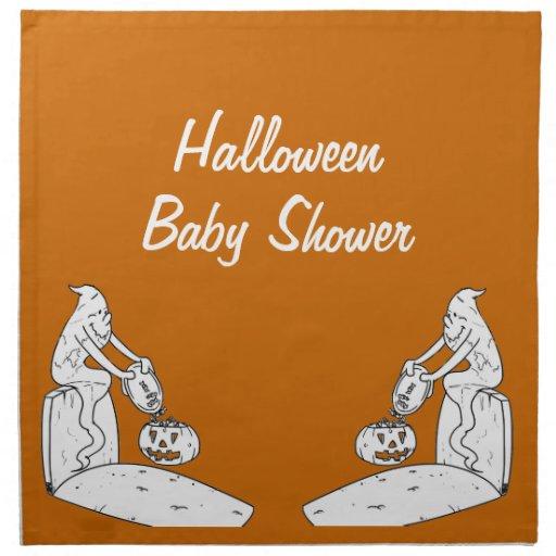 spooktacular halloween baby shower napkins zazzle
