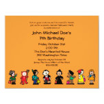 Spooktacular Halloween Birthday Costume Party Personalized Announcements