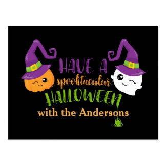 Spooktacular Halloween Custom Invitation Postcard