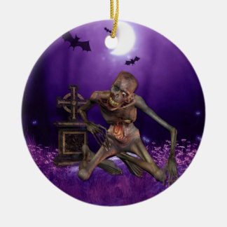 Spooktacular Halloween Adorno Redondo De Cerámica