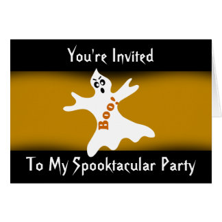 Spooktacular Halloween Ghost Party Invitation