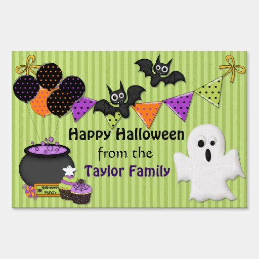 Spooktacular Halloween Party - Customize Yard Signs