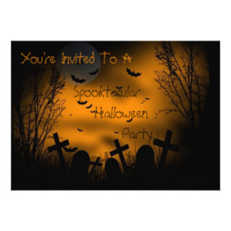 Spooktacular Halloween Party Custom Announcement