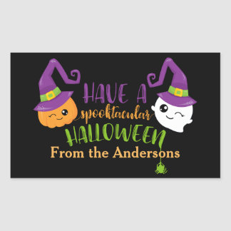 Spooktacular Halloween Party Personalized Favor Rectangular Sticker