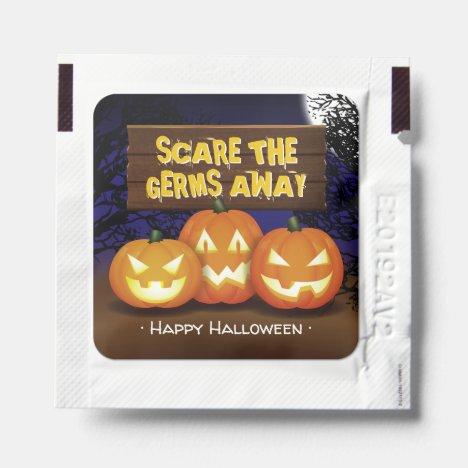 Spooktacular Pumpkin Carving Halloween Party Hand Sanitizer Packet