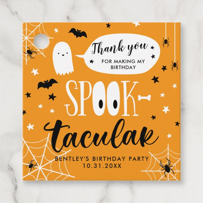 Spooktacular Thank you Halloween Birthday Party Favor Tags