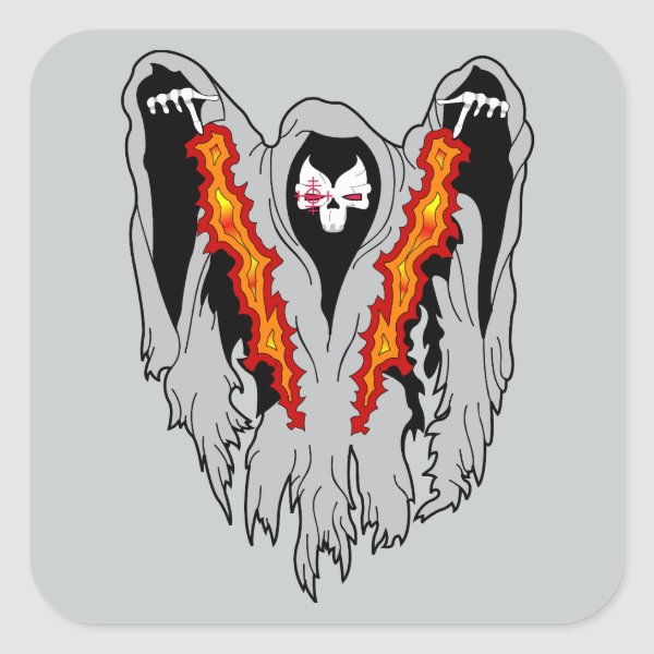 Spooky  AC-130  Gunship Square Sticker
