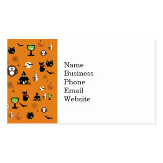 Spooky and Fun Halloween Collage Double-Sided Standard Business Cards (Pack Of 100)