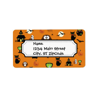 Spooky and Fun Halloween Collage Label