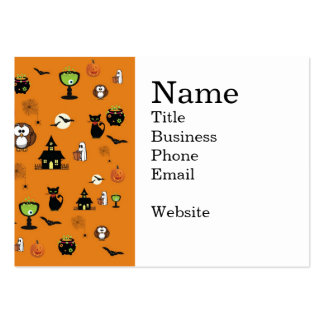 Spooky and Fun Halloween Collage Large Business Cards (Pack Of 100)