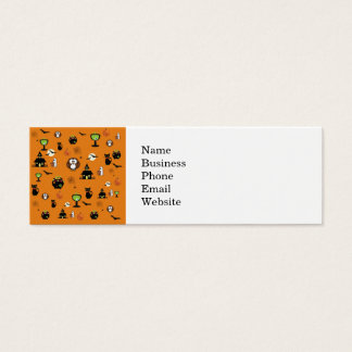 Spooky and Fun Halloween Collage Mini Business Card