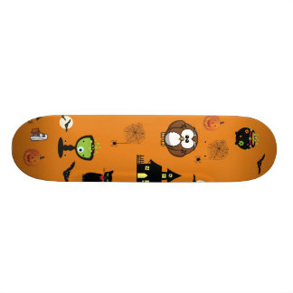 Spooky and Fun Halloween Collage Skateboard