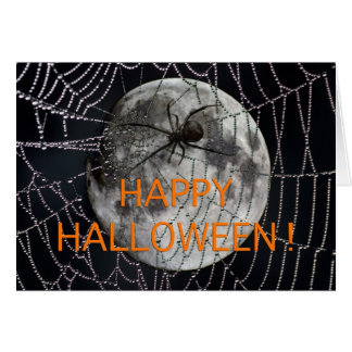Spooky and scary Happy Halloween greeting card