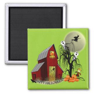Spooky Barn Halloween Magnet