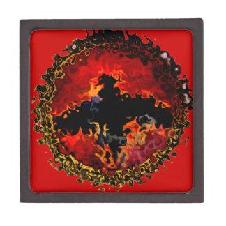 Spooky Bat on Fire Gift Box