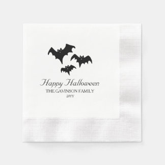 Spooky Bats Coined Cocktail Napkin