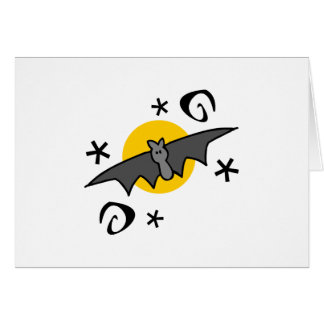 Spooky Bats Greeting Card