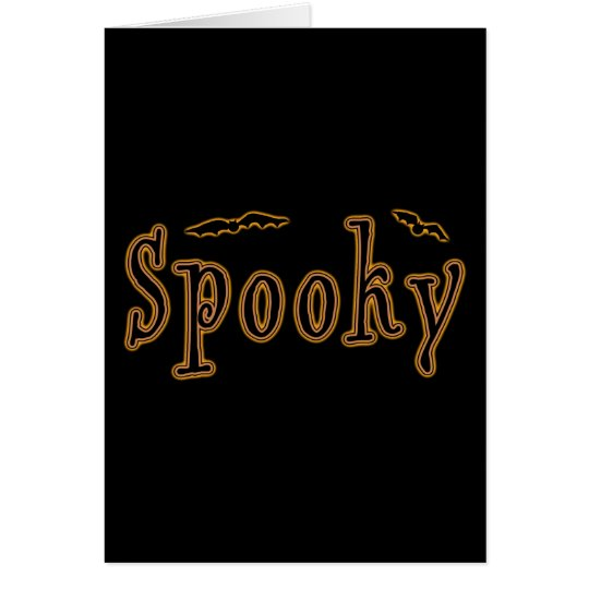 Spooky Bats Halloween Design Card